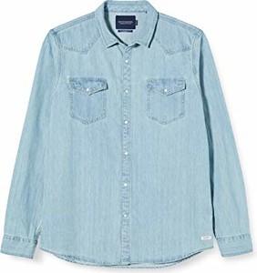 Koszula amazon.de z jeansu z długim rękawem