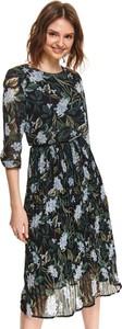 Granatowa sukienka Top Secret maxi z okrągłym dekoltem