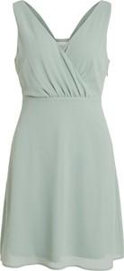 Zielona sukienka Vila mini bez rękawów