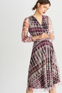 Sukienka Reserved z długim rękawem midi