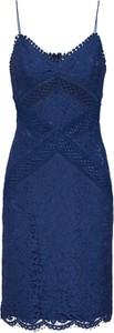 Niebieska sukienka Love Triangle z bawełny mini na ramiączkach