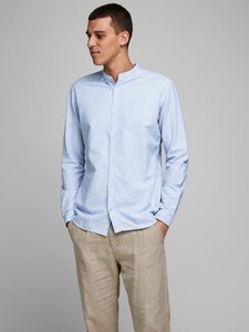 Niebieska koszula WARESHOP z długim rękawem z bawełny