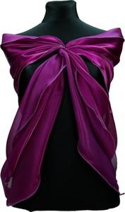 Fioletowy szalik Fokus w stylu glamour