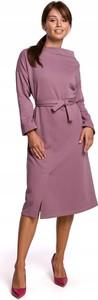 Fioletowa sukienka Inna dla puszystych