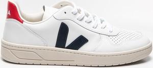 Buty sportowe Veja w sportowym stylu ze skóry sznurowane