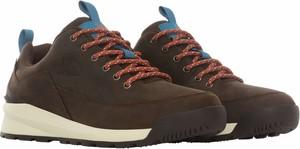 Brązowe buty zimowe The North Face sznurowane w sportowym stylu
