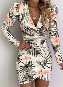 Sukienka Sandbella kopertowa mini