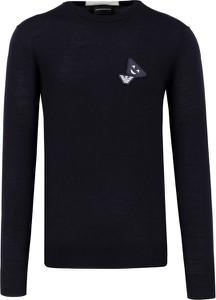 Czarny sweter Emporio Armani z wełny
