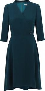 Zielona sukienka POTIS & VERSO z długim rękawem