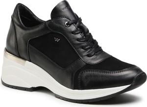 Czarne buty sportowe Wojas z zamszu