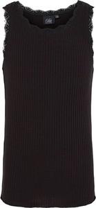 Czarna bluzka dziecięca Sofie Schnoor z bawełny bez rękawów