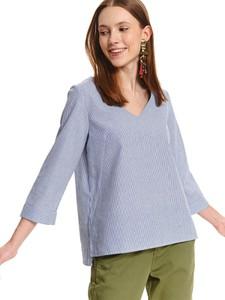 Bluzka Top Secret w stylu casual z dekoltem w kształcie litery v