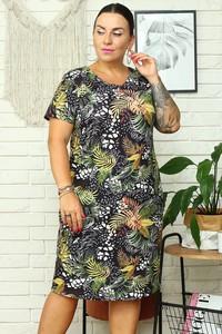 Sukienka KARKO ołówkowa w stylu casual z okrągłym dekoltem