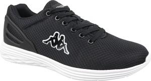 Czarne buty sportowe Kappa sznurowane w młodzieżowym stylu