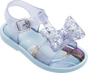 Niebieskie buty dziecięce letnie Melissa ze skóry