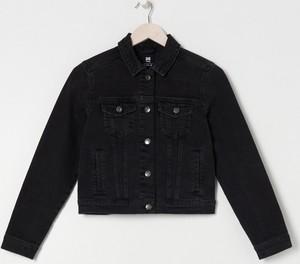 Czarna kurtka Sinsay w stylu casual z jeansu