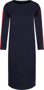 Sukienka Marc O'Polo midi z dżerseju w stylu casual