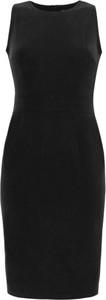 Czarna sukienka RISK made in warsaw z bawełny z dekoltem woda bez rękawów