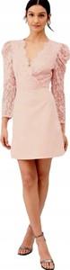 Sukienka V by Very z długim rękawem mini z dekoltem w kształcie litery v