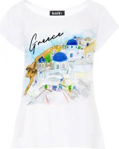 T-shirt Knitis z krótkim rękawem w młodzieżowym stylu