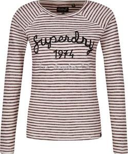 Bluzka Superdry z okrągłym dekoltem w stylu casual