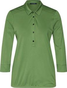 Zielona bluzka Marc O'Polo z kołnierzykiem z długim rękawem w stylu casual