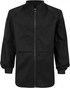 Czarna kurtka Synthetic 100%natural krótka