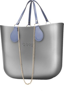 Srebrna torebka O Bag do ręki w stylu casual duża