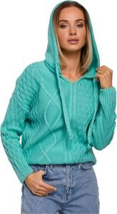 Zielony sweter MOE w stylu casual