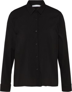 Czarna koszula Samsøe & Samsøe z kołnierzykiem w stylu klasycznym z długim rękawem