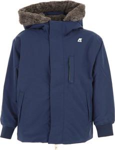 Niebieska kurtka dziecięca K-Way z bawełny