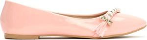 Baleriny Vices w stylu glamour z płaską podeszwą ze skóry ekologicznej