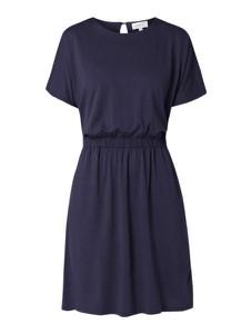 Granatowa sukienka ARMEDANGELS mini z krótkim rękawem w stylu casual