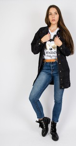 Granatowe jeansy Olika w stylu casual z jeansu