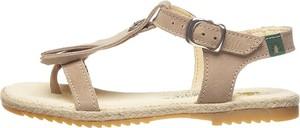 Brązowe buty dziecięce letnie El Naturalista ze skóry