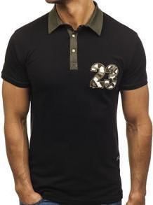 Koszulka polo męska czarny denley 2058