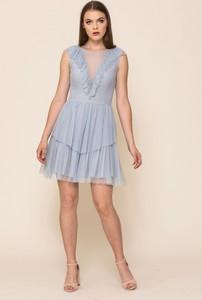 Sukienka VISSAVI bez rękawów mini rozkloszowana