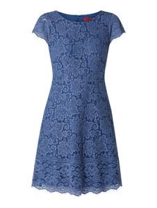 Niebieska sukienka Hugo Boss mini z bawełny