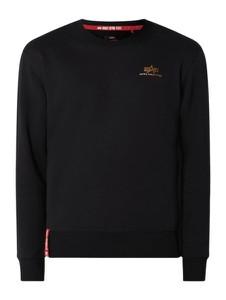 Czarna bluza Alpha Industries w stylu casual