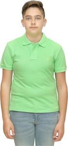 Zielona koszulka dziecięca POLO RALPH LAUREN z bawełny