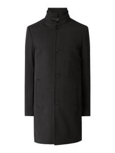 Czarny płaszcz męski McNeal z wełny