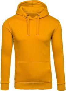 Żółta bluza Denley w stylu casual z dresówki