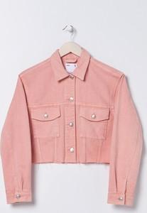 Różowa kurtka Sinsay z jeansu