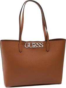 Brązowa torebka Guess duża na ramię