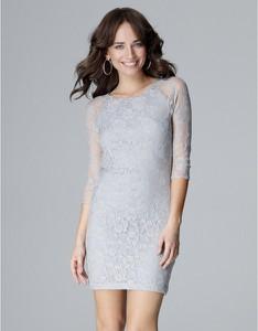 Sukienka LENITIF mini z długim rękawem