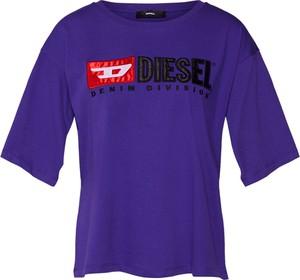 Niebieska bluzka Diesel z dżerseju