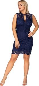 Sukienka Ptakmoda.com gorsetowa z dekoltem typu choker