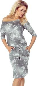 Sukienka NUMOCO w stylu casual midi z długim rękawem