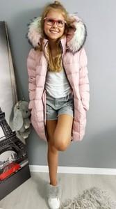 Różowy płaszcz dziecięcy Ligari Kids