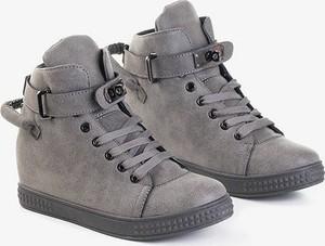 Buty sportowe Royalfashion.pl sznurowane na koturnie